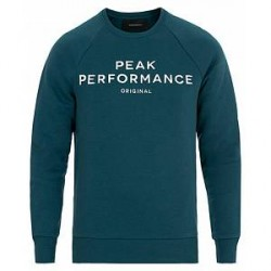 Peak Performance Logo Crew Neck Sweatshirt Teal Extreme