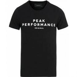 Peak Performance Logo Crew Neck Tee Black