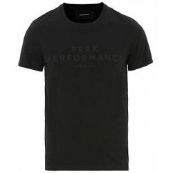 Peak Performance Logo Crew Neck Tee Black
