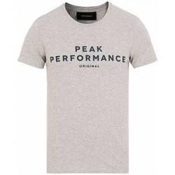 Peak Performance Logo Crew Neck Tee Grey