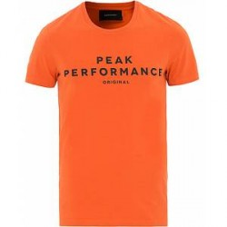 Peak Performance Logo Crew Neck Tee Orange Flow