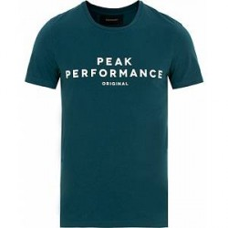Peak Performance Logo Crew Neck Tee Teal Extreme