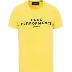 Peak Performance Logo Crew Neck Tee True Yellow
