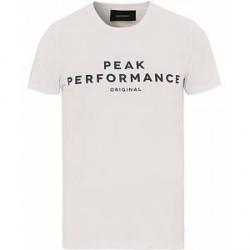 Peak Performance Logo Crew Neck Tee White