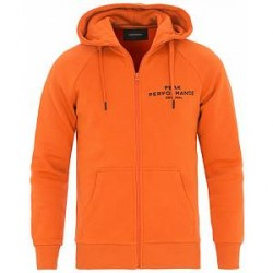 Peak Performance Logo Full Zip Hoodie Blaze Orange