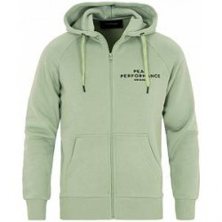 Peak Performance Logo Full Zip Hoodie Light Green