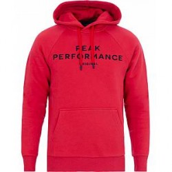 Peak Performance Logo Hoodie Red