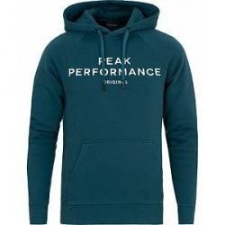 Peak Performance Logo Hoodie Teal Extreme