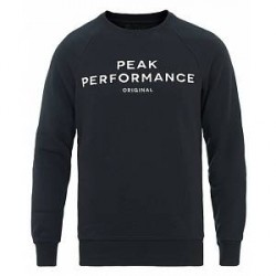 Peak Performance M Logo Crew Neck Sweatshirt Salute Blue