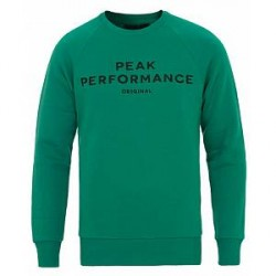 Peak Performance M Logo Crew Neck Sweatshirt Shady Green