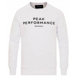 Peak Performance M Logo Crew Neck Sweatshirt White