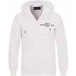 Peak Performance M Logo Full Zip Hoodie White