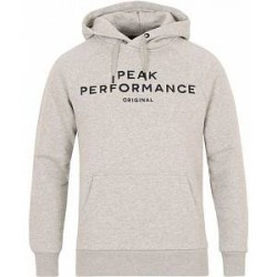 Peak Performance M Logo Hoodie Grey