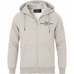 Peak Performance M Logo Zip Hoodie Grey