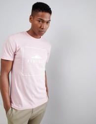 Penfield Alcala Box Logo T-Shirt in Pink - Pink