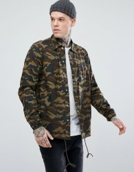 Penfield Blackstone Ripstop Over Shirt Regular Fit in Camo Print - Green