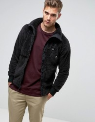 Penfield Breakheart Teddy Fleece Jacket Full Zip in Black - Black