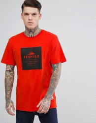Penfield Brockton Logo T-Shirt Regular Fit in Fire Orange - Orange