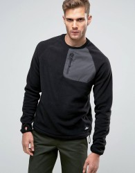 Penfield Carney Polar Fleece Sweatshirt in Black - Black