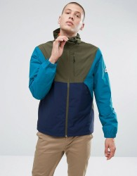 Penfield Cochato Hooded Jacket Techical Waterproof Tricolor in Green - Green