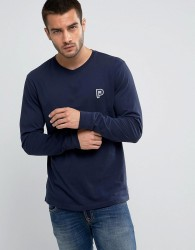 Penfield Copley Long Sleeve Top P Logo Regular Fit in Navy - Navy