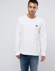 Penfield Copley Long Sleeve Top P Logo Regular Fit in White - White