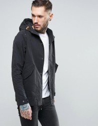 Penfield Davenport Hooded Jacket Showerproof in Black - Black