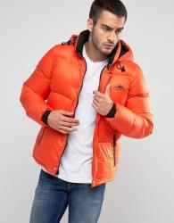 Penfield Equinox Down Quilted Jacket Detachable Hood in Orange - Orange