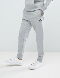 Penfield Hopedale Logo Tapered Cuffed Joggers in Grey Marl - Grey