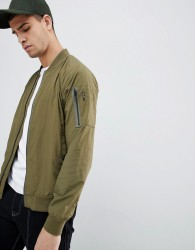 Penfield Okenfield Nylon Bomber Jacket in Green - Green
