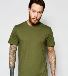 Penfield T-Shirt with Mountain Logo In Olive Exclusive - Green