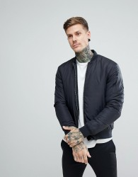 Penfield Thurman Quilted Bomber Jacket in Black - Black