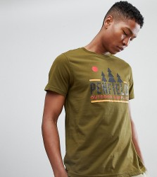 Penfield Treeline Logo Print T-Shirt EXCLUSIVE in Green - Green