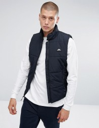 Penfield Washbourne Quilted Gilet in Black - Black
