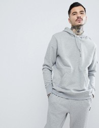 Penfield Westridge Logo Hoodie in Grey Marl - Grey
