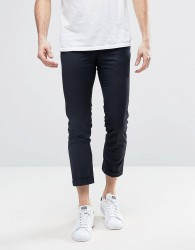 Penguin Formal Plain Cropped Trousers - Navy