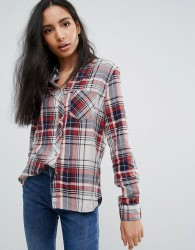 Pepe Jeanes Ines Check Shirt - Red