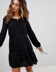 Pepe Jeans Ander Tie Sleeve Dress - Black