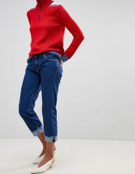 Pepe Jeans Betsie Low Rise Turnup Jeans - Navy