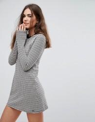 Pepe Jeans Edie Knit Stripe Dress - Grey