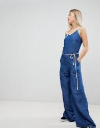 Pepe Jeans Flyer Retro Denim Jumpsuit - Blue