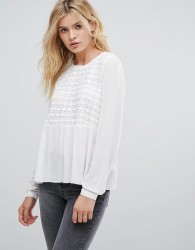 Pepe Jeans Gaynor Embroidered Front Blouse - White