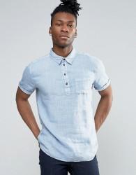 Pepe Jeans Half Placket Short Sleeve Shirt - Blue