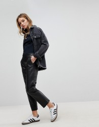 Pepe Jeans Leather Trouser - Black