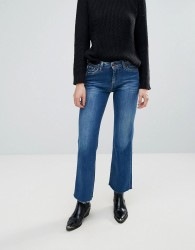 Pepe Jeans Linda Cropped Flare Jeans - Blue