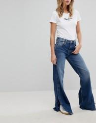 Pepe Jeans Maxa High Waist Wide Leg Jean - Blue