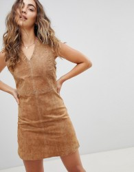 Pepe Jeans New Clare Real Suede Dress - Brown