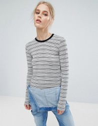 Pepe Jeans Pat Long Sleeved Striped Top - Navy