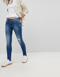 Pepe Jeans Pixie Mid Rise Skinny Jean - Blue