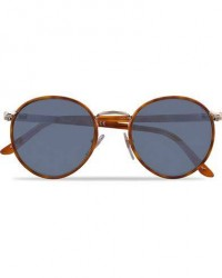 Persol 0PO2422SJ Round Sunglasses Light Gold/Light Blue men One size Guld